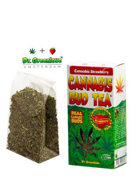 photo cbd Cannabis bud tea Strawberry