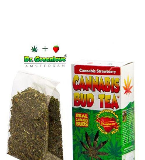 achat cbd Cannabis bud tea Strawberry