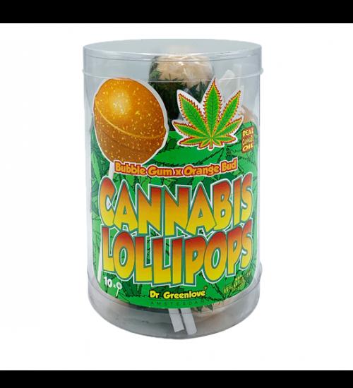achat cbd Cannabis lollipops Bubblegum x Orange Bud