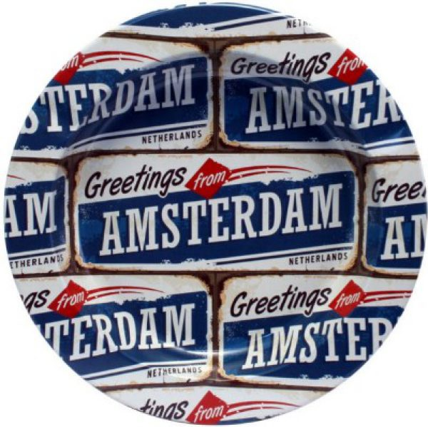 photo cbd cendrier amsterdam plaque bleu