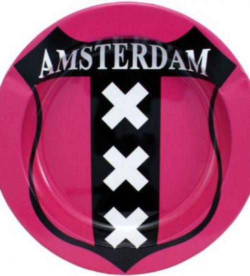 achat cbd Cendrier en métal Amsterdam XXX Rose