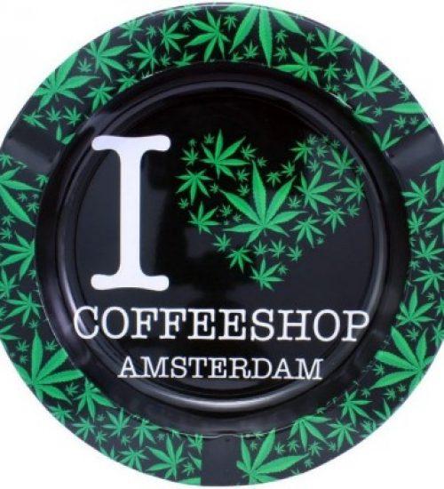 achat cbd Cendrier en métal I Love Coffeeshop