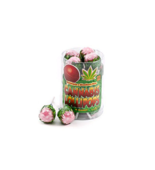 achat cbd Cannabis lollipops Bubblegum x Strawberry