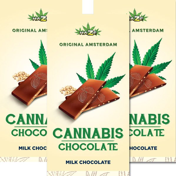 photo cbd Cannabis Chocolate Milk with Hazelnut