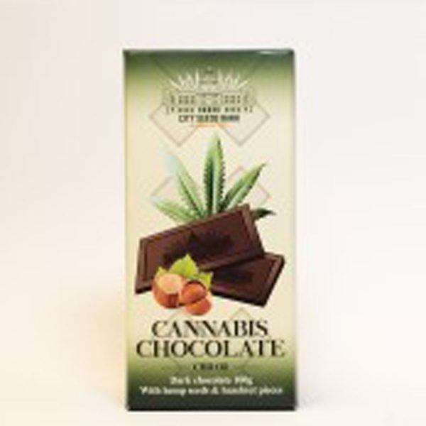 photo cbd Hemp Dark chocolate With Hazelnut