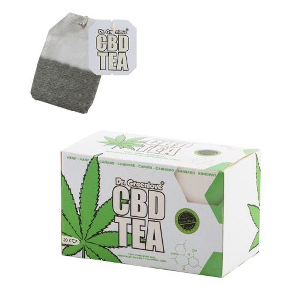 photo cbd Cannabis CBD tea – DR Greenlove white