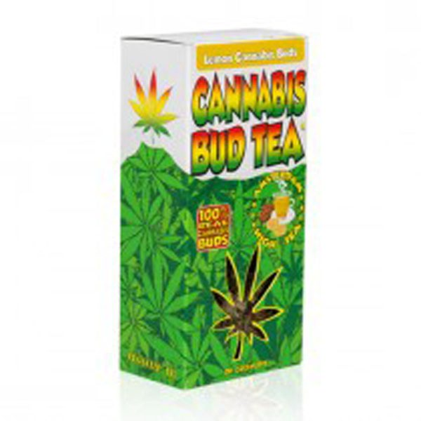 photo cbd Cannabis bud tea lemon