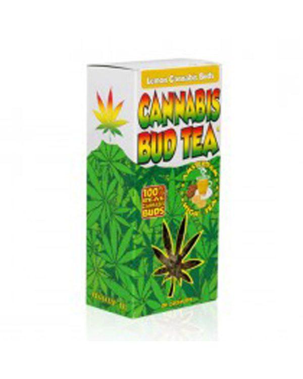 photo cbd Cannabis bud tea lemon