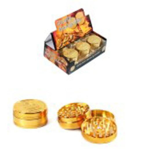 achat cbd Golden metal Grinders 50mm