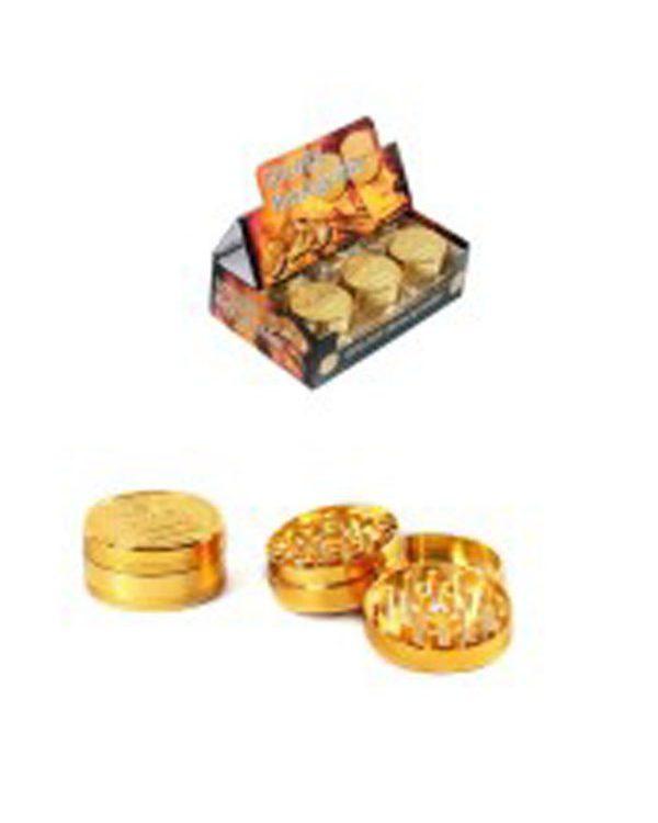 photo cbd Golden metal Grinders 50mm