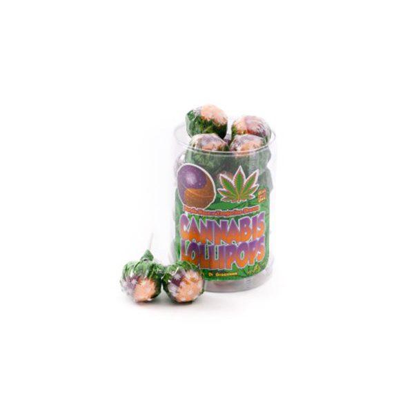 photo cbd Cannabis lollipops Purple x Tangerine