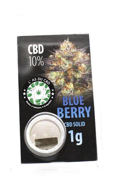 photo cbd CBD solide 10% Blue Berry