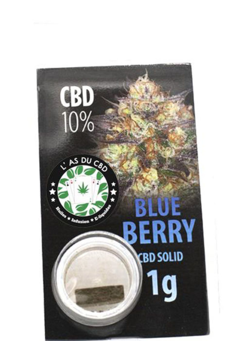 achat cbd CBD solide 10% Blue Berry