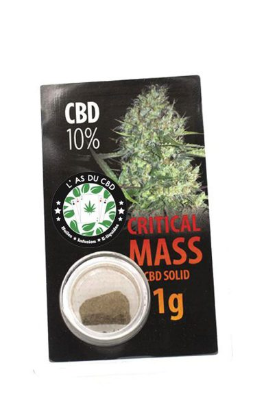photo cbd CBD solide 10% Critical Mass