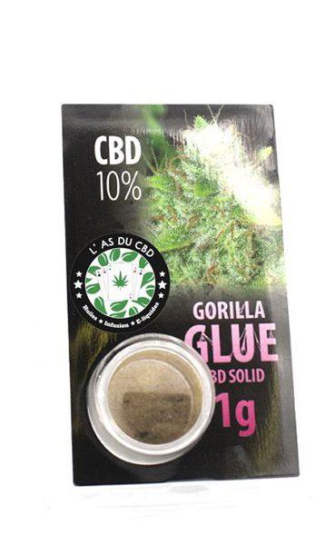 photo cbd CBD solide 10% Gorilla Glue