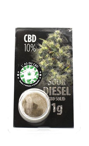 photo cbd CBD solide 10% Sour Diesel