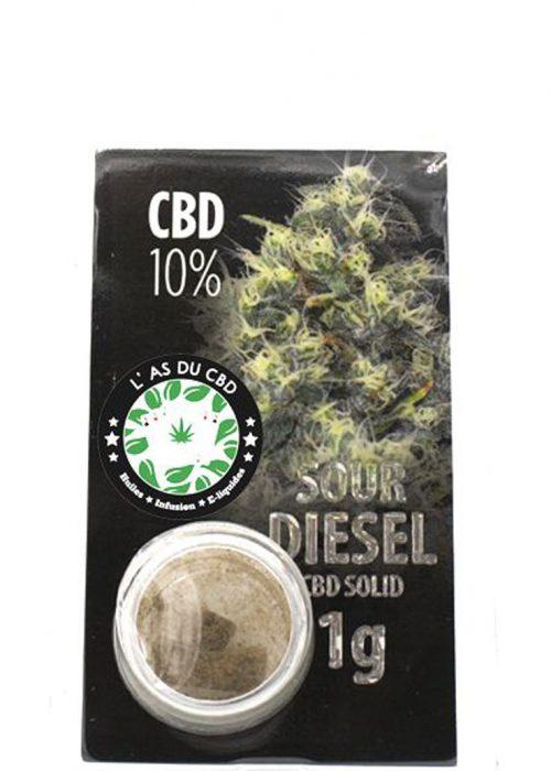 achat cbd CBD solide 10% Sour Diesel