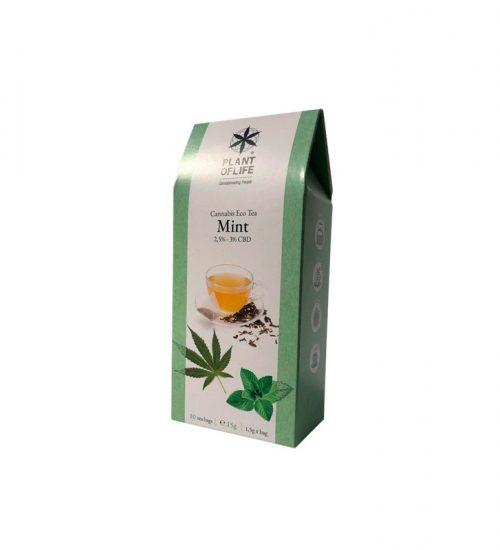 achat cbd Plant of life – Cannabis Eco Tea CBD – Mint – Bio