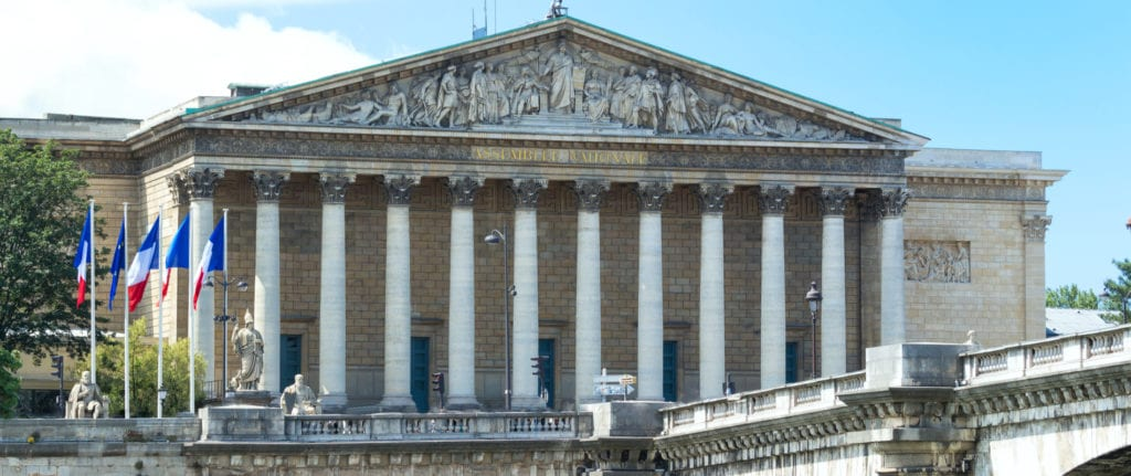 Vue panoramique assemblee nationale