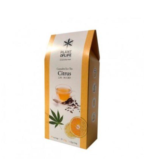 achat cbd Plant of life – Cannabis Eco Tea CBD – Citrus – Bio