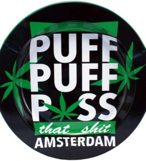 achat cbd Cendrier en métal Amsterdam Puff Puff Pass