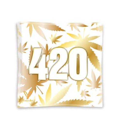 achat cbd Cendrier en verre 420 Gold