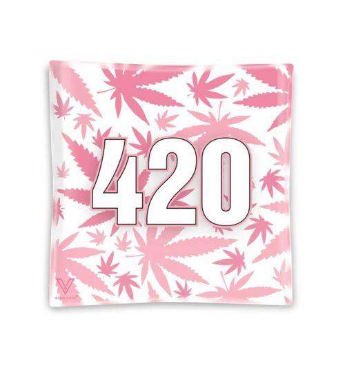 achat cbd Cendrier en verre 420 Rose