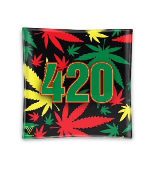 achat cbd Cendrier en verre 420 Rasta