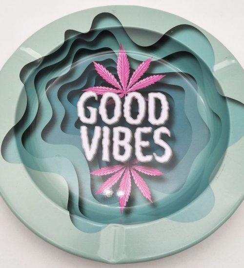 achat cbd Cendrier en métal Good Vibes