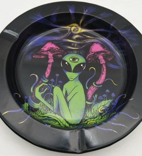 achat cbd Cendrier en métal Mushroom Alien
