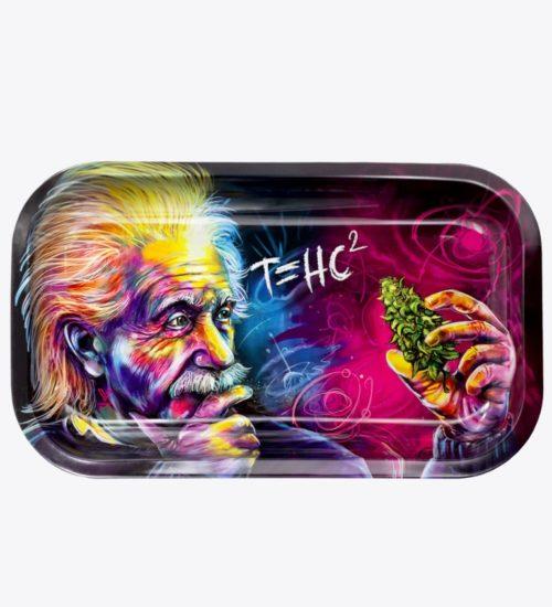 achat cbd Plateau en métal Einstein THC2