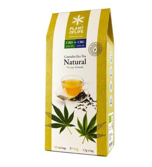 achat cbd Plant of life – Cannabis Eco Tea CBD + CBG – Natural – Bio