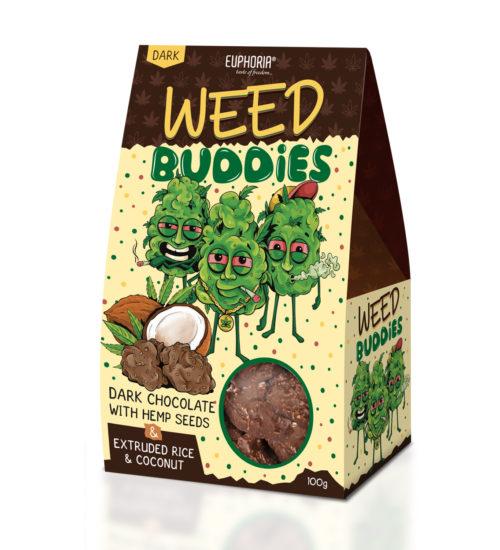 achat cbd Weed Buddies chocolat noir et noix de coco