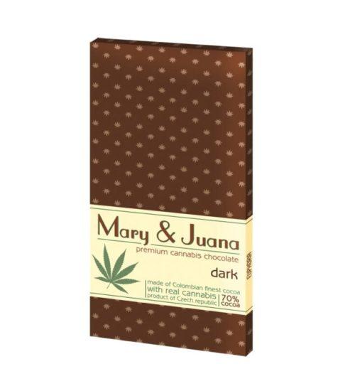 achat cbd Tablette de chocolat noir Cannabis Mary & Juana