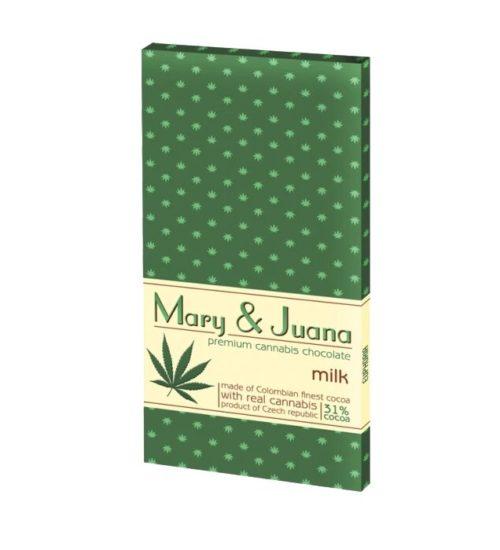 achat cbd Tablette de chocolat au lait Cannabis Mary & Juana