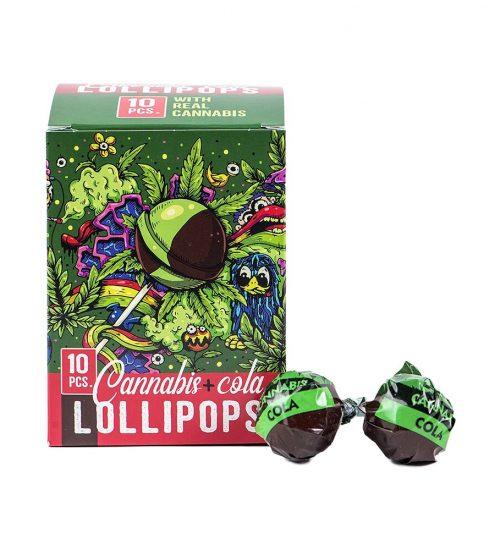 achat cbd Sucettes Cannabis Cola Lollipops