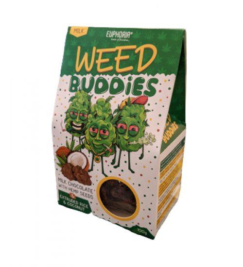 achat cbd Weed Buddies chocolat au lait et noix de coco